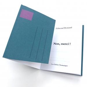 Nouvelle à poster de Edmond Rostand, Non merci !, disponible chez les Éditions pneumatiques