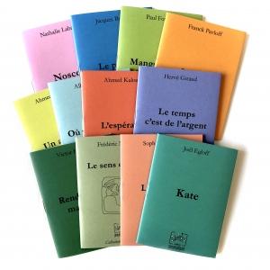 Abonnement pour 12 objets littéraires postaux, 1 nouvelle par mois par les Editions pneumatiques.