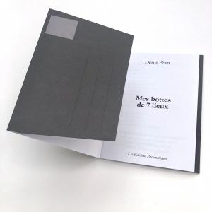 Nouvelle à poster de Denis Péan, Mes bottes de 7 lieux, disponible chez les Éditions pneumatiques